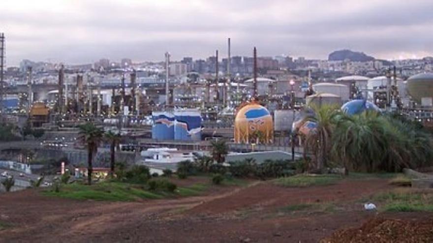 La refinería de Santa de Cruz de Tenerife.