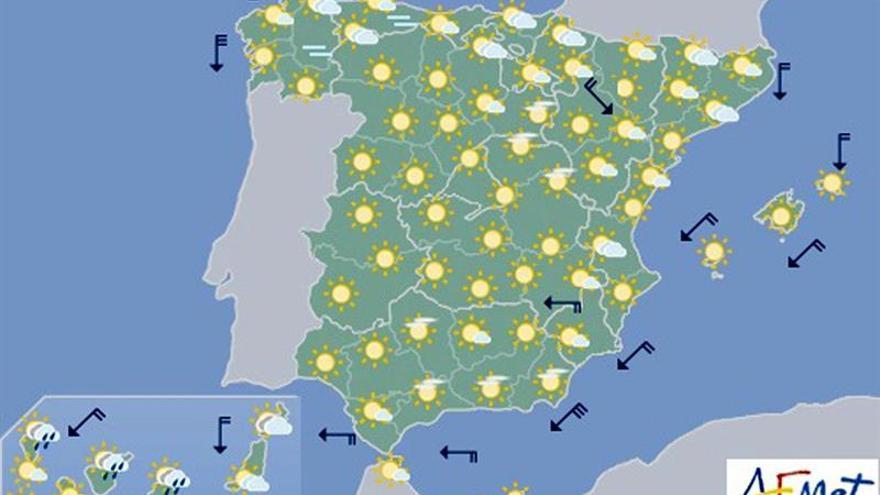 Mañana más calor y temperaturas más de 40 grados en Andalucía y Extremadura
