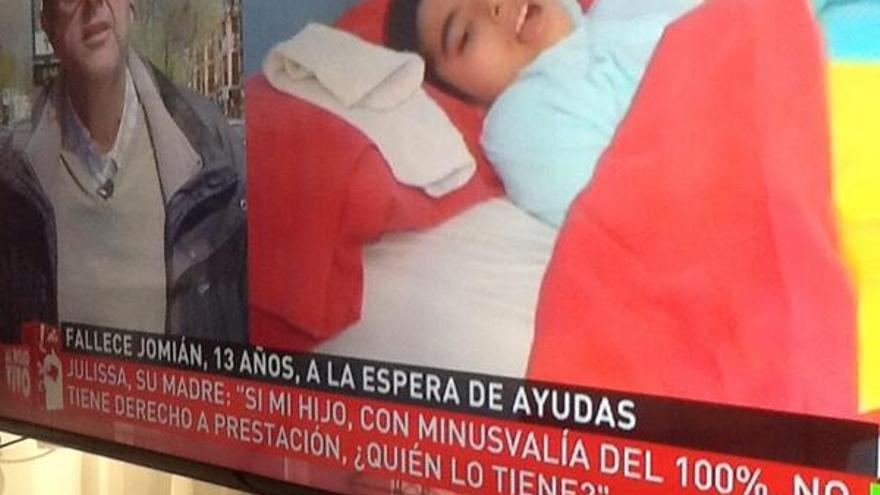 La noticia en la Sexta del fallecimiento de Jomián. Foto: @Armando_Marcos