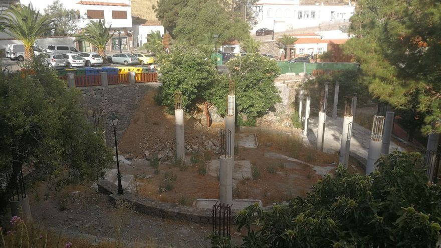 Mamotreto en el parque de Artenara.