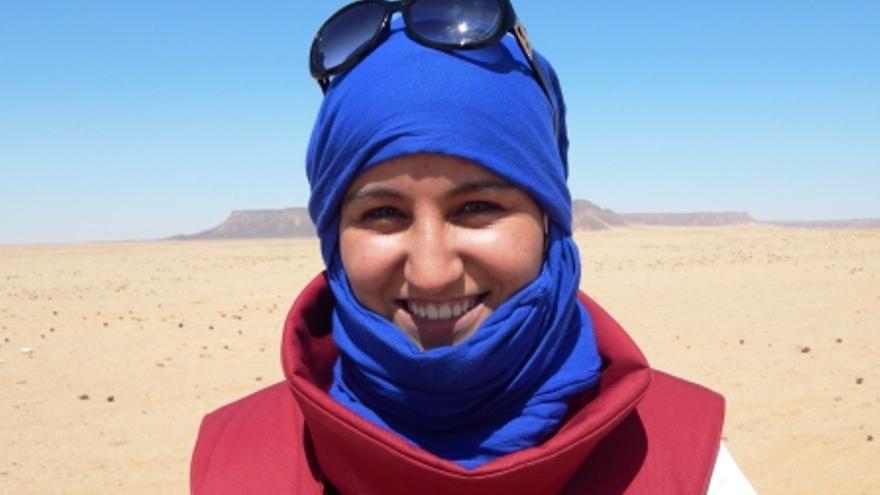 Foto de Iauguiha Mohamed Embarek  Limpiando el Sahara de minas antipersona