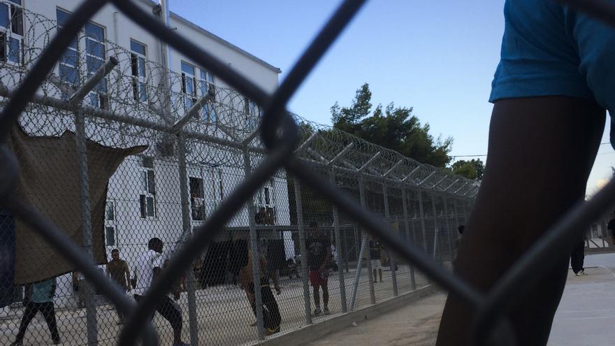 Centro de detención griego de Corinthos/ Fotografía: Aitor Saéz