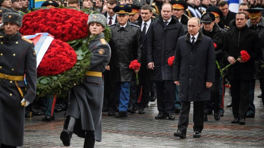 Putin says he will continue to modernize the armed forces