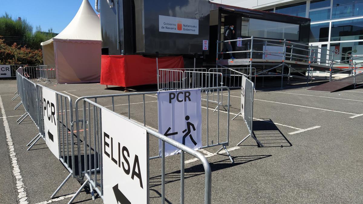 Espacio de Forem en Mutilva, donde el Gobierno de Navarra realiza pruebas PCR