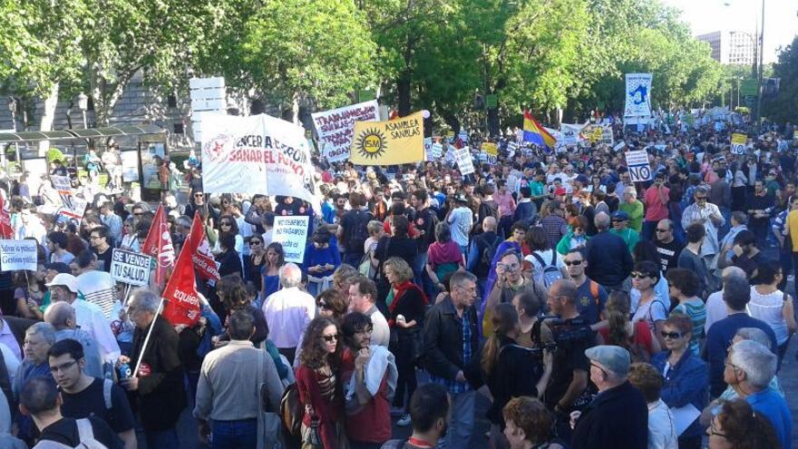 Participantes en la manifestación de Madrid / Gabriela Sánchez