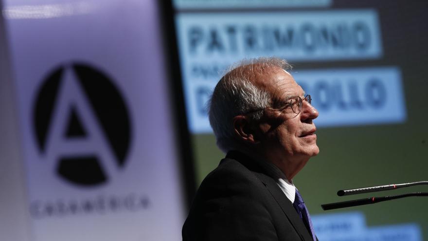 El ministro de Exteriores Josep Borrell en un encuentro internacional sobre Patrimonio para el Desarrollo.