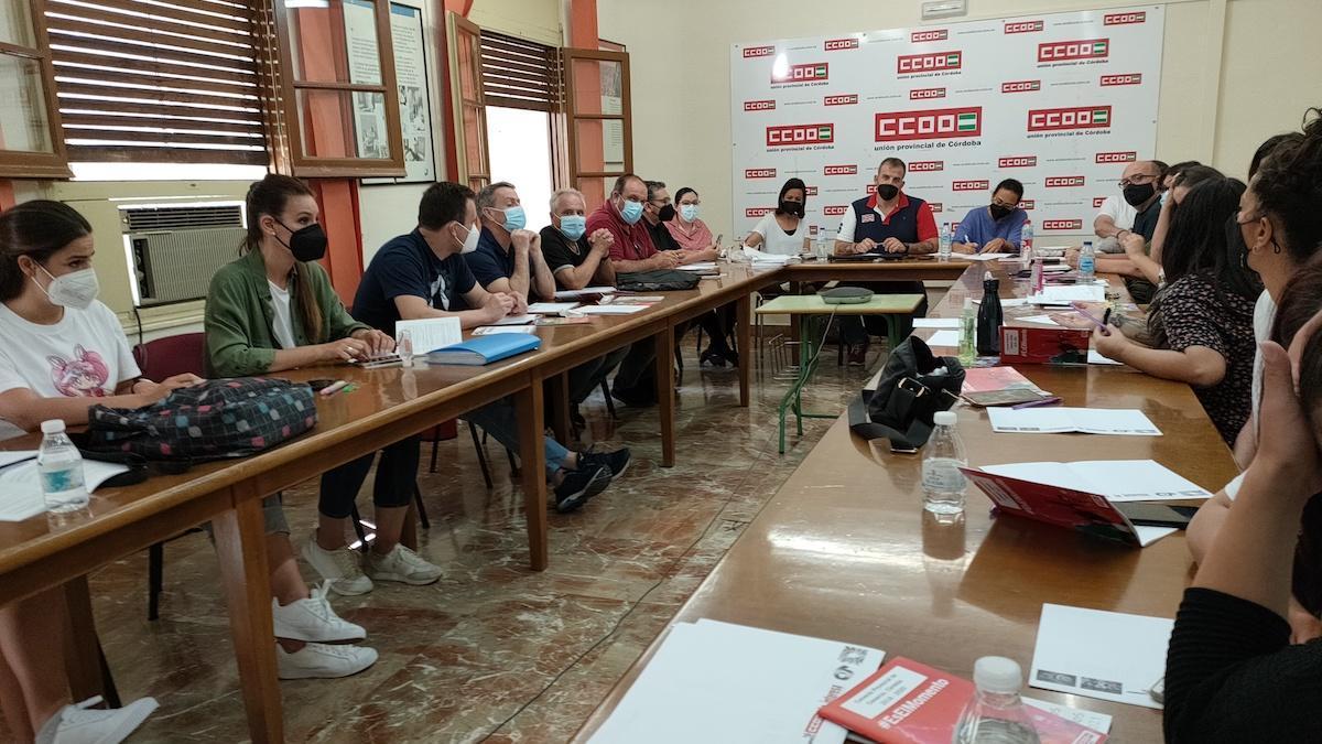 Reunión de CCOO Comercio.