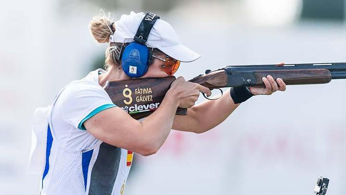 Fátima Gálvez, en una competición