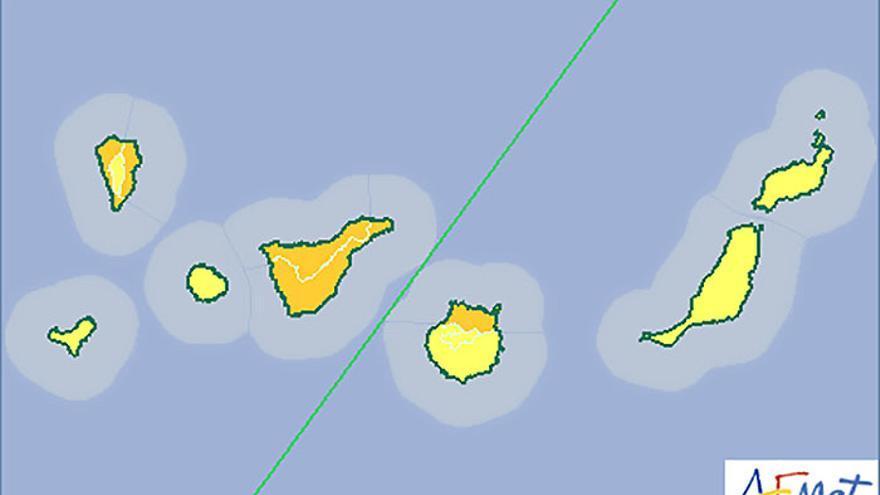 Previsión de la Agencia Estatal de Meteorología en Canarias para este miércoles, 19 de noviembre de 2014