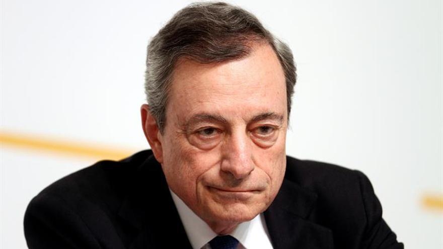 Draghi: El efecto de los tipos negativos se compensa con la mejora en las perspectivas