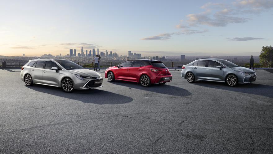 Las tres carrocerías del nuevo Toyota Corolla.