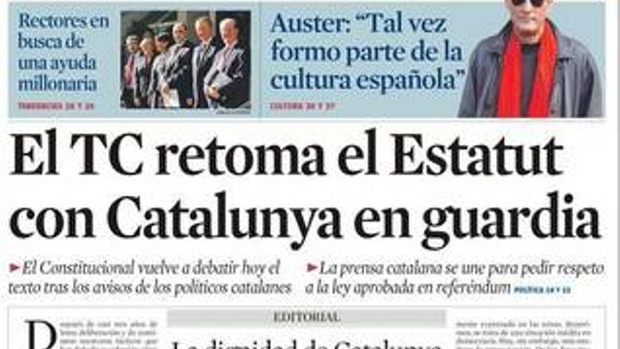 La prensa de Cataluña se une en defensa del Estatut