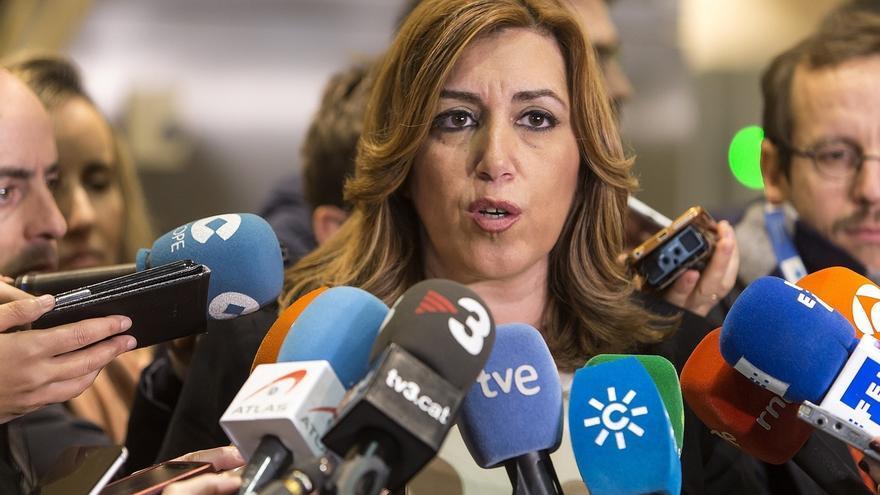 """Susana Díaz afirma que España """"merece un PSOE fuerte"""" y confía en que """"pronto"""" se resuelva el congreso"""