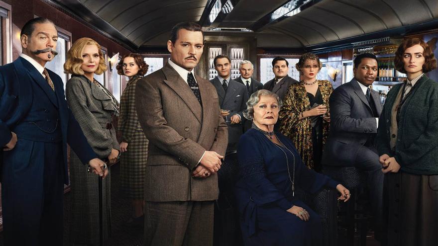 Imagen promocional de la última versión cinematográfica de 'Asesinato en el Orient Express'