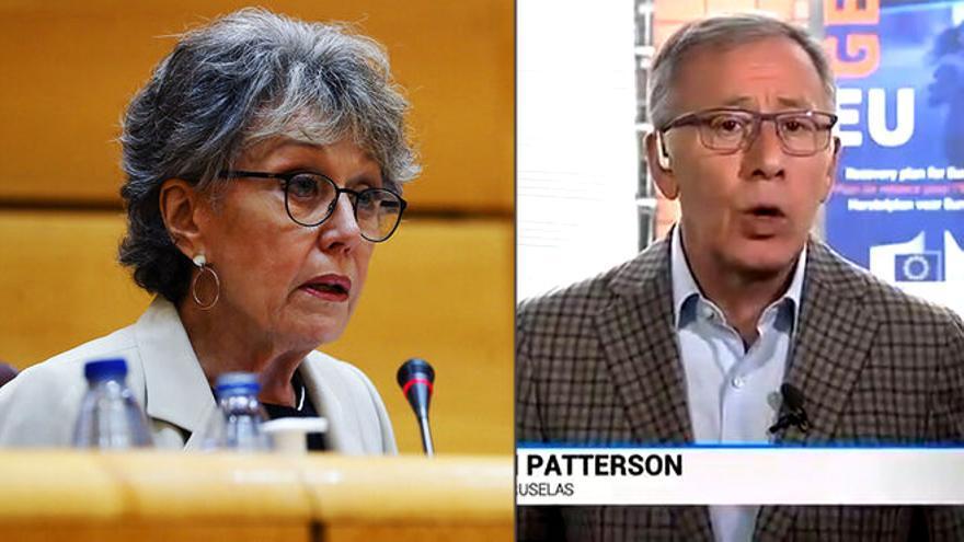 Rosa María Mateo y José Ramón Patterson