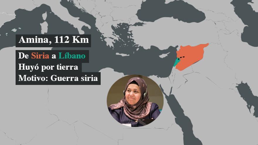 Amina escapó de la guerra en Siria a Libano | Foto: Entreculturas