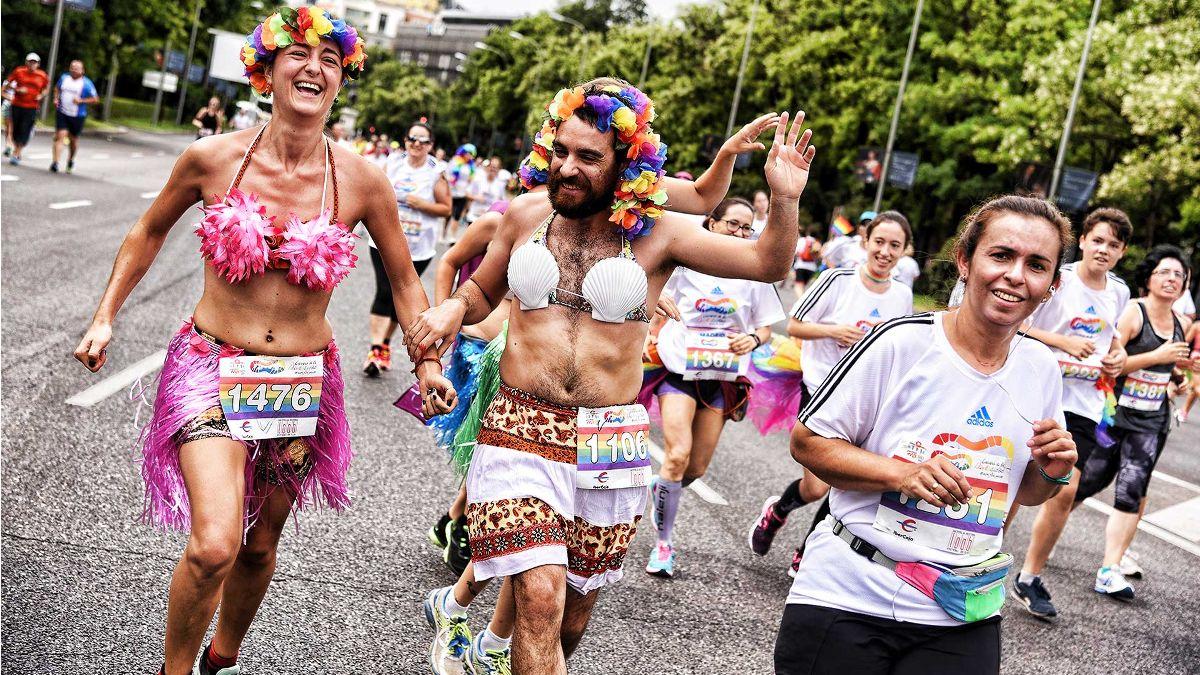 Participantes en la I Carrera de la Diversidad   CARRERA DE LA DIVERSIDAD