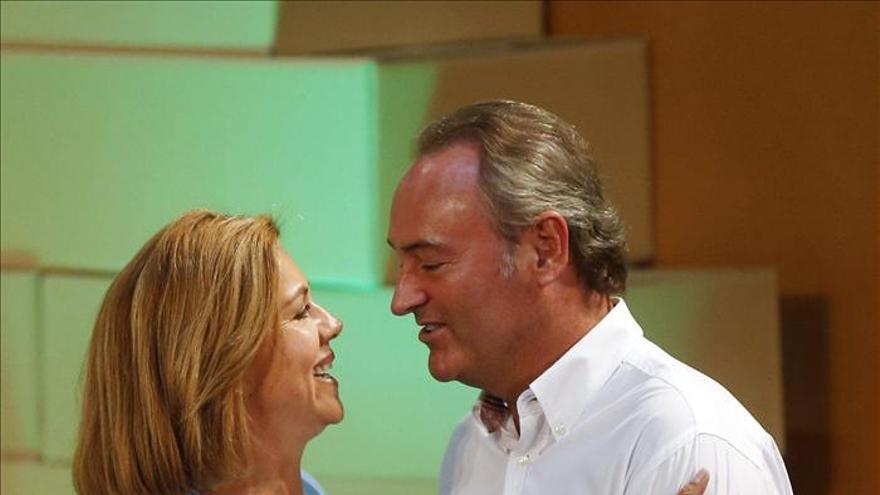 Cospedal dice que el PP es garantía de una España unida y de que todos cumplan la ley