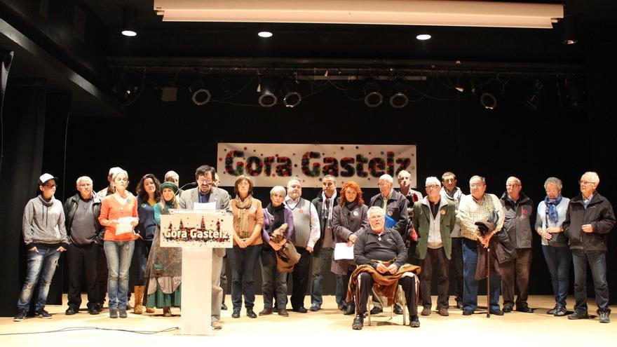Presentación de Gora Gasteiz! en Vitoria.