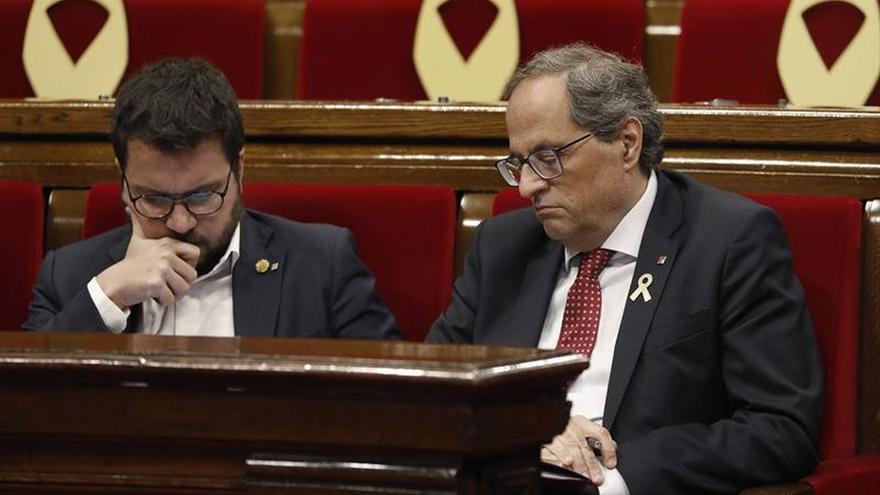 Torra y Aragonès comparecen juntos tras la crisis de ayer de JxCAT y ERC