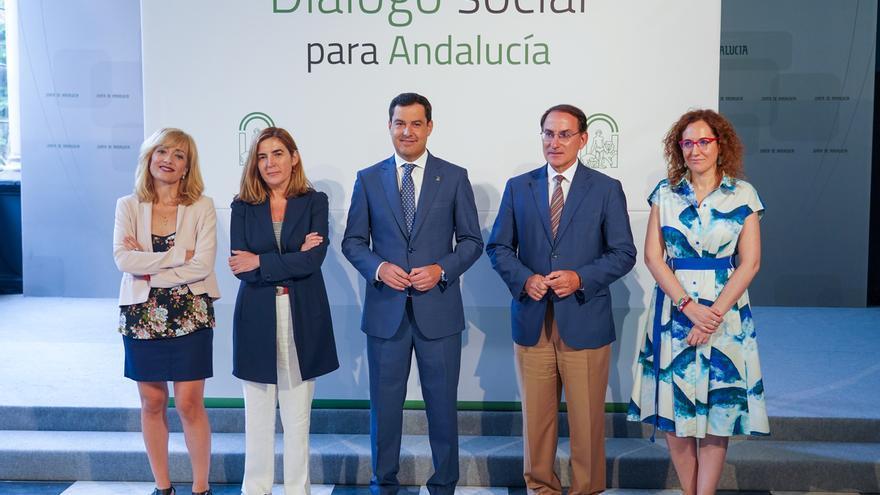 Moreno reanuda este miércoles el diálogo social con UGT-A, CCOO-A y la CEA con una reunión en San Telmo