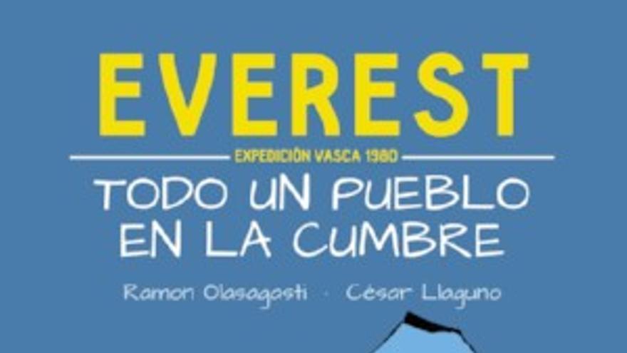 Everest todo un pueblo en la cumbre.