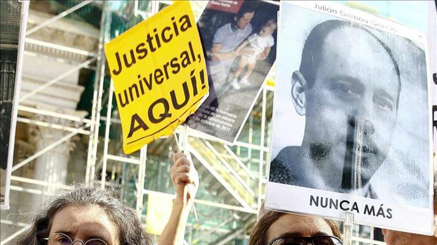 Protesta de las víctimas del franquismo