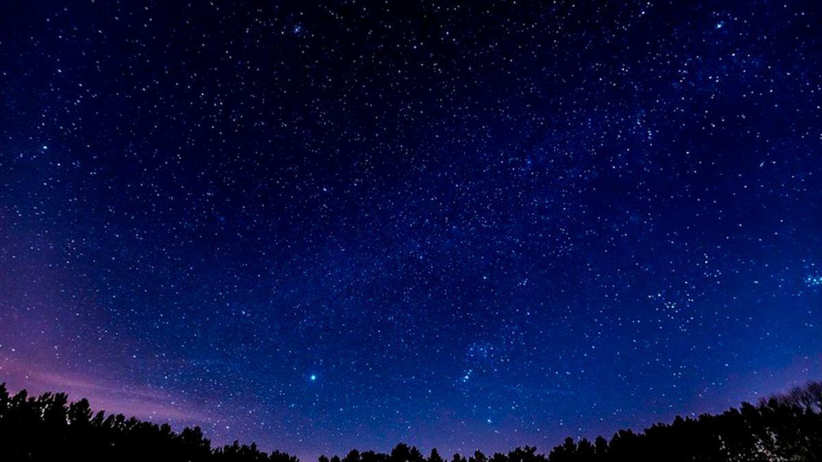 Imagen del cielo estrellado.