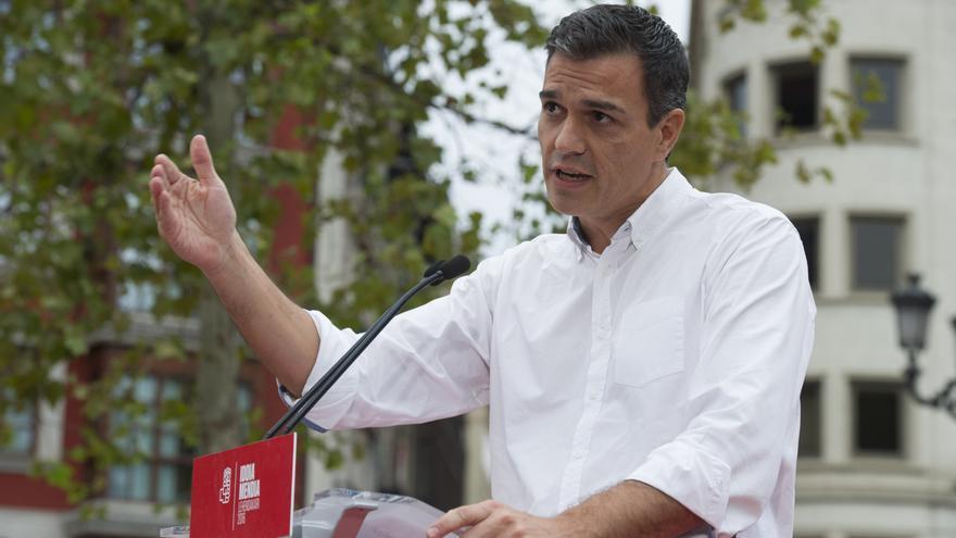 Pedro Sánchez en un acto de campaña en Euskadi. Foto: Borja Puig (PSOE)