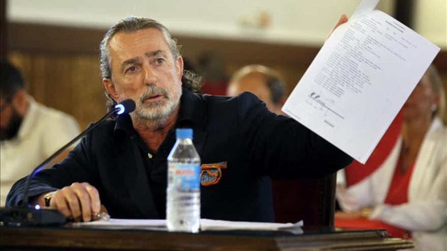 Francisco Correa en un momento del juicio que se sigue en Valencia