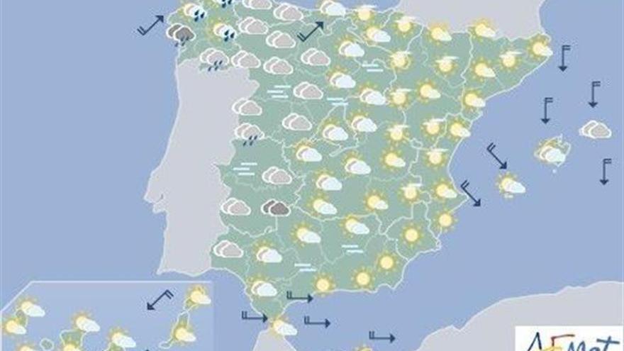 Un nuevo frente dejará hoy lluvias en el noroeste y temperaturas más bajas