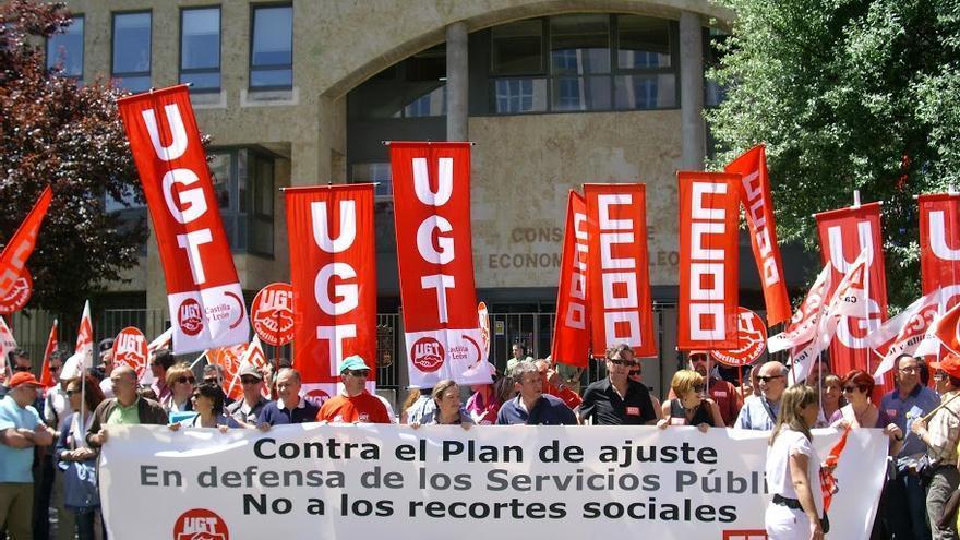 Manifestación de UGT en Valladolid. Fsp-Ugt