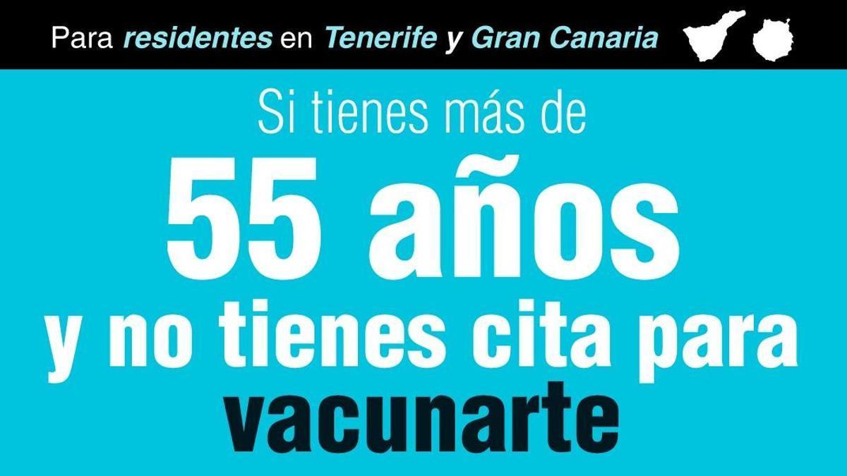 Vacunación para residentes en Tenerife y Gran Canaria