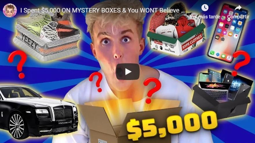 Vídeo del youtuber Jake Paul anunciando la casa de apuestas.