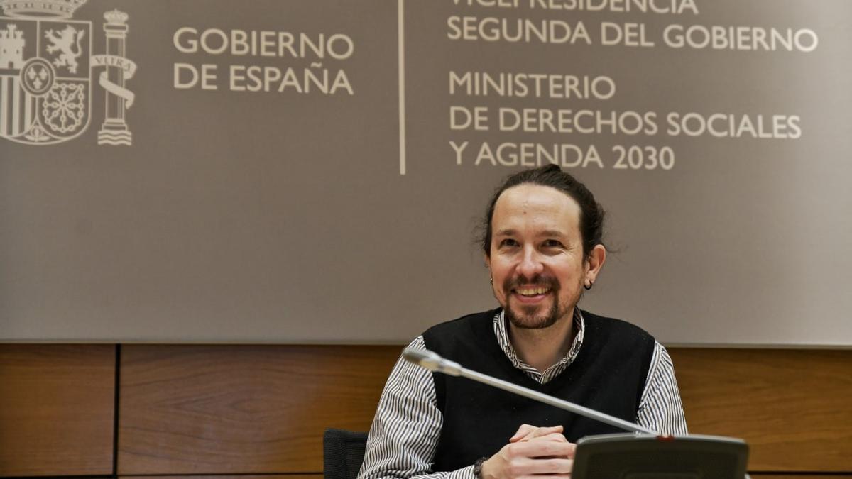 Pablo Iglesias en uno de sus últimos actos como vicepresidente.