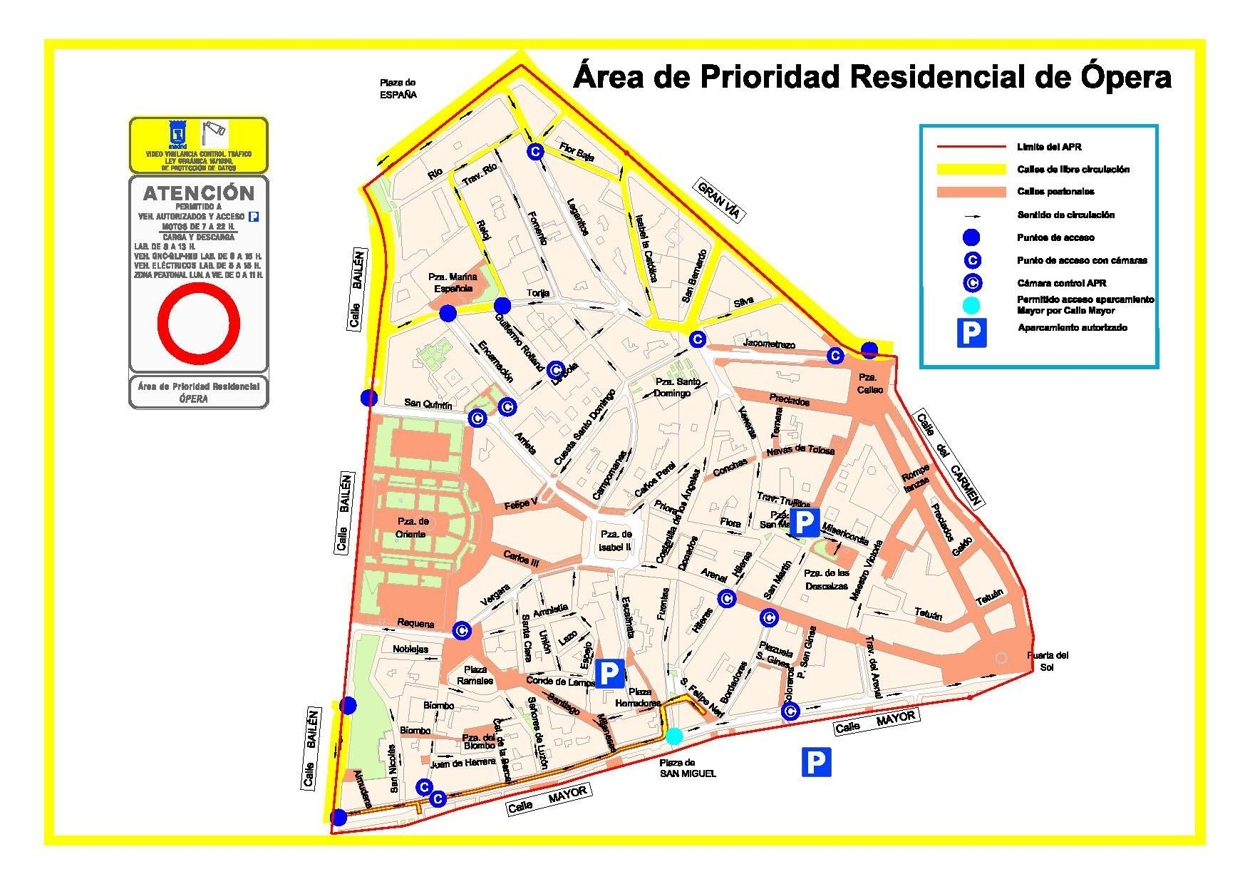 Área de prioridad residencial de Ópera (pincha para ampliar) | AYUNTAMIENTO DE MADRID