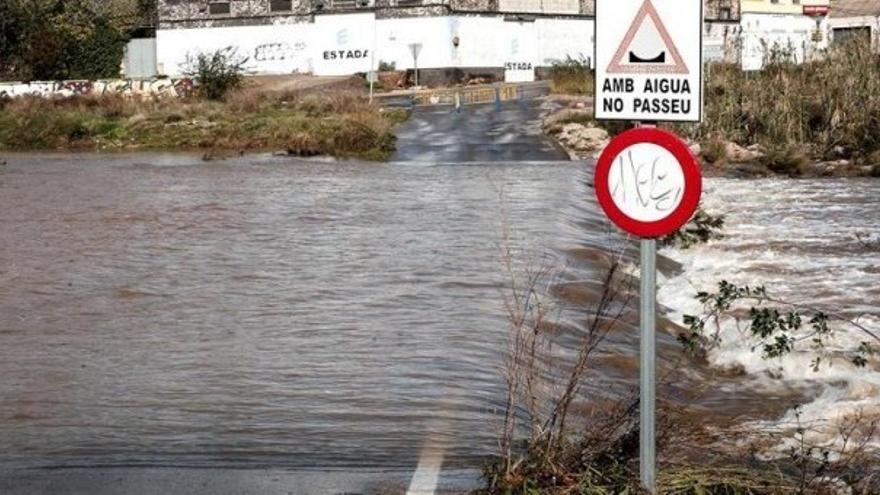 Desbordamiento del río Palancia en Sagunto.