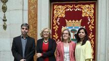 Jorge García Castaño, Manuela Carmena, Purificación Causapié y Érika Rodríguez.
