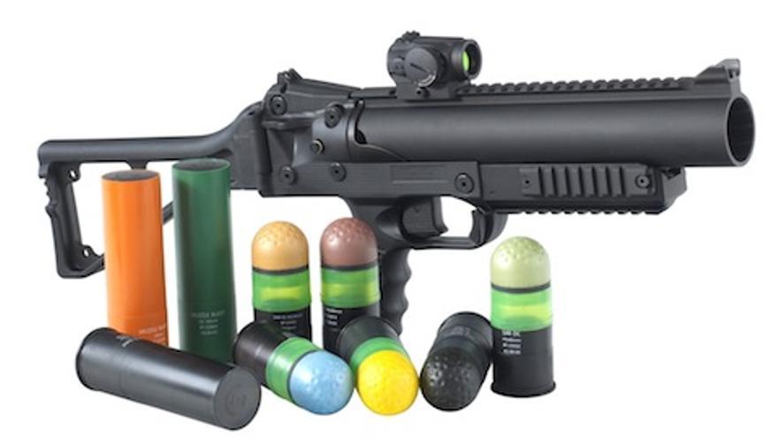 Lanzadoras de proyectiles viscoelásticos utilizadas por los Mossos d'Esquadra