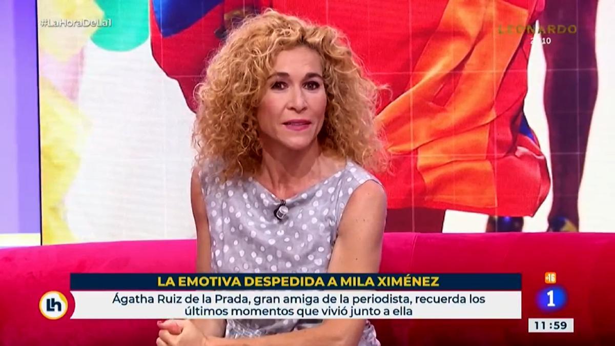 Despedida a Mila Ximénez en 'La hora de La 1'