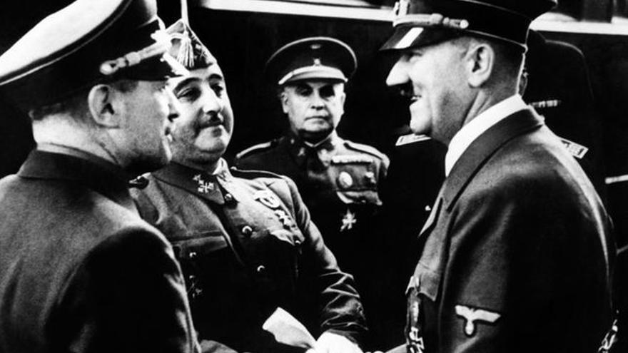 Franco y Hitler, en una fotografía histórica