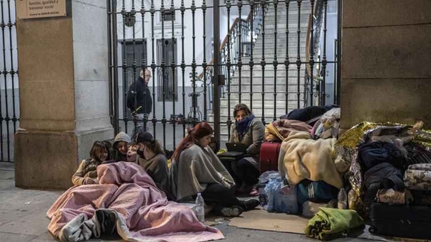 Familias solicitantes de asilo en Madrid