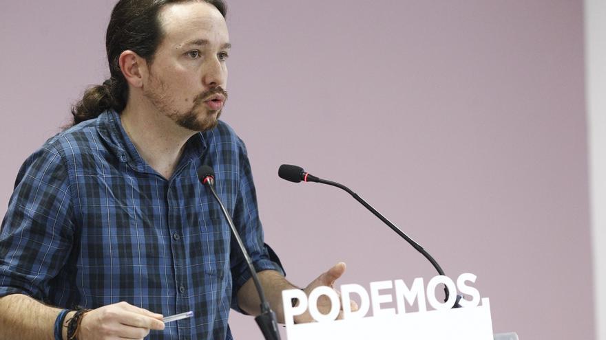"""Pablo Iglesias pide una Constitución """"que no sirva como candado"""" y que reconozca la """"plurinacionalidad"""" de España"""