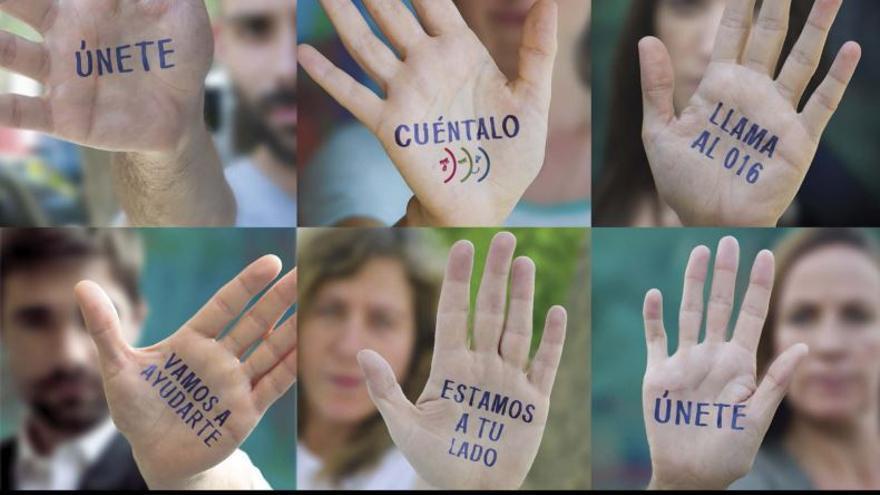 Campaña del 016 para animar a la población a denunciar la violencia machista