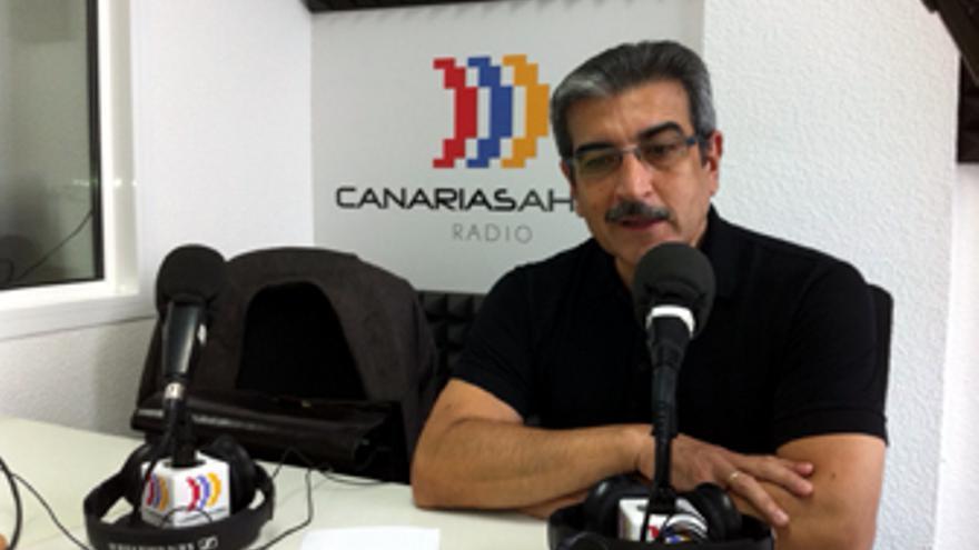 Román Rodríguez, este viernes en los estudios de CANARIAS AHORA RADIO.