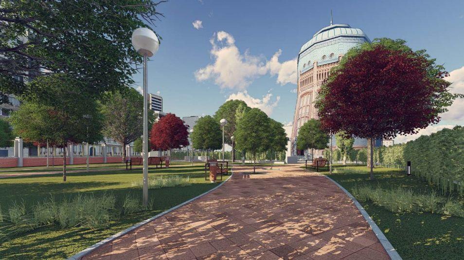 Así serán los jardines públicos del Depósito Elevado del Canal