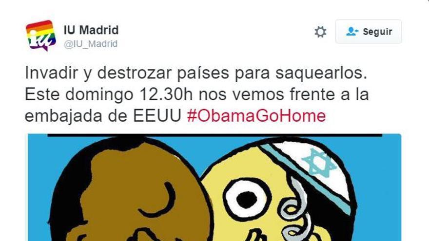 Tuit publicado por la cuenta de Izquierda Unida el pasado 7 de julio | Twitter: @IU_Madrid