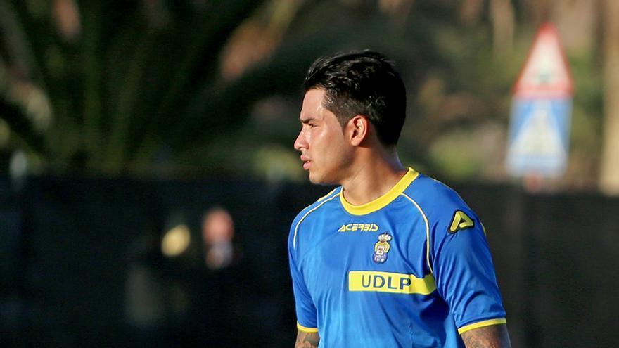 Sergio Araujo, en la pretemporada de la UD Las Palmas (ALEJANDRO RAMOS)