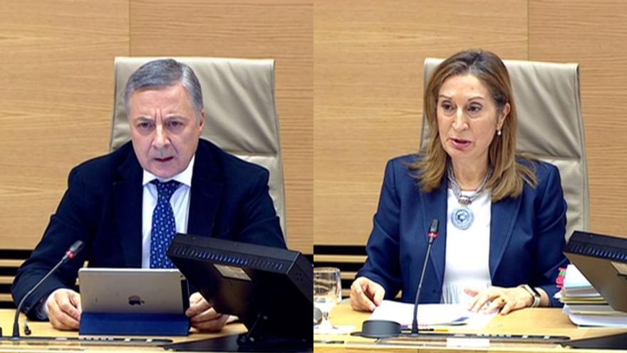 Los exministros de Fomento José Blanco y Ana Pastor, en la comisión de investigación sobre el accidente del Alvia en el Congreso