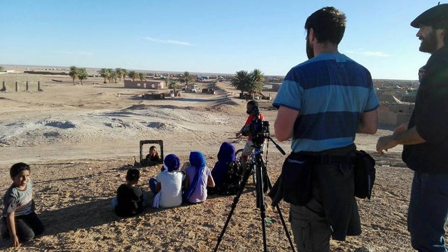 Momento de la grabación del documental.